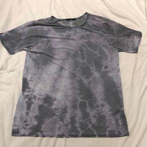 Forever 21 mesh/sheer tie dye T-shirt